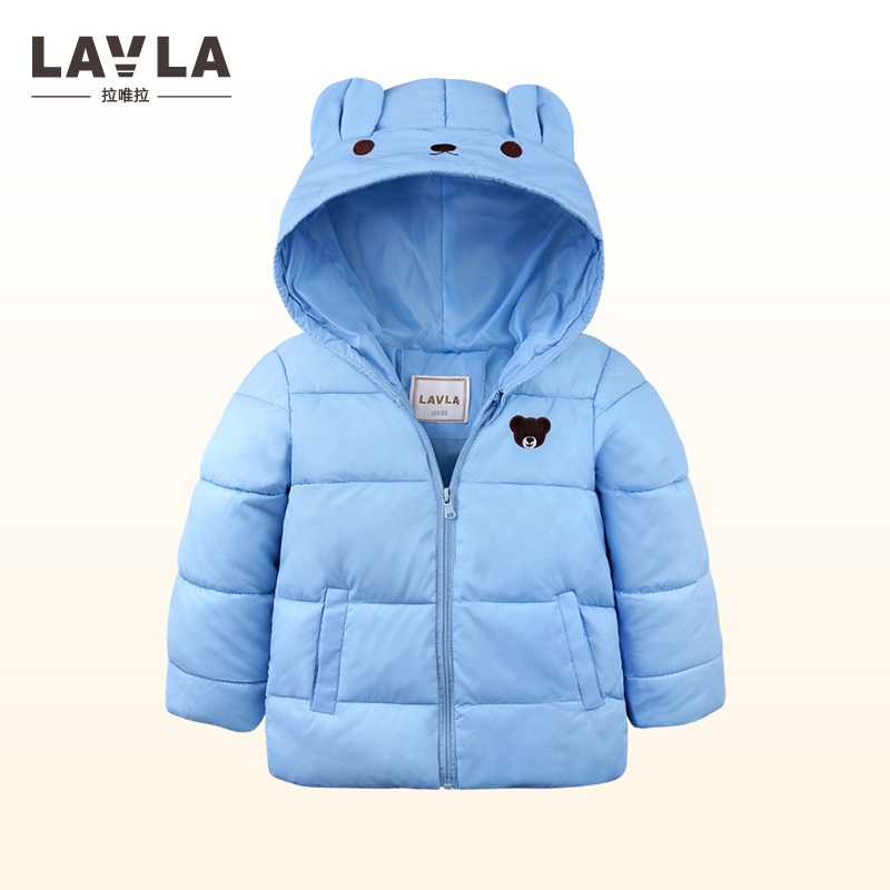 LAVLA 2017 Winter New baby boy girl clothes,children's warm jackets,kids sports cotton hooded outerwear Coat 2 Color boy parka boy winter coats hot sales children clothing thickening hooded cotton jackets fashion warm baby boy coats clothes outerwear kids
