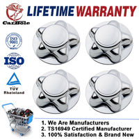 CARBOLE 4Pcs Chrome Center Hubcaps for Ford 97 00 F 150 Expedition With 16 Steel Wheel Cap