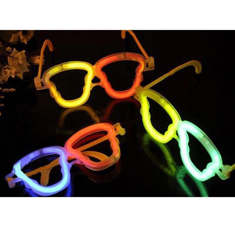 2017 г.; костюм светодиоды LED 20 шт./лот световой палка Интимные аксессуары Пластик Очки Рамки череп Форма свет Игрушечные лошадки для партии ко…