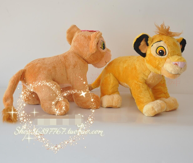 New 2pc 45cm The Lion King Plush Soft Toys Simba And Nala Plush Doll