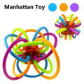 Manhattan Rattles and Sensory Teether Activity Rings Baby Feeder Silicone Teething Toys Baby Products for Teeth