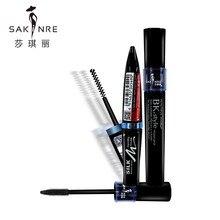 Фотография Brand Cosmetics Long-wearing Fiber Mascara 2 Set High Definition Black Mascara Cream Long Curling Thick Eyelashes Mascara Fiber