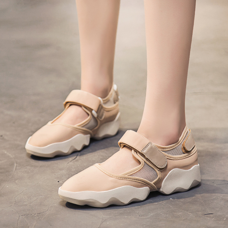 2018 women casual shoes female summer new flat shoes women fashion sneakers breathable sandals thick bottom mesh shoes