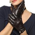 Специальное Предложение 2017 Женщин Перчатки Запястье Сплошной Овчины Натуральной Кожи Перчатки Моды Короткий Дизайн Вождения Бесплатная Доставка EL033PN
