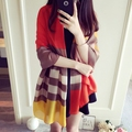 2016 Clásicos de la moda Marca de Lujo de Gran Tamaño manta a cuadros Bufanda de Seda de Las Mujeres Pañuelo Bufandas De la Alta Calidad Elegante Foulard Cachecol