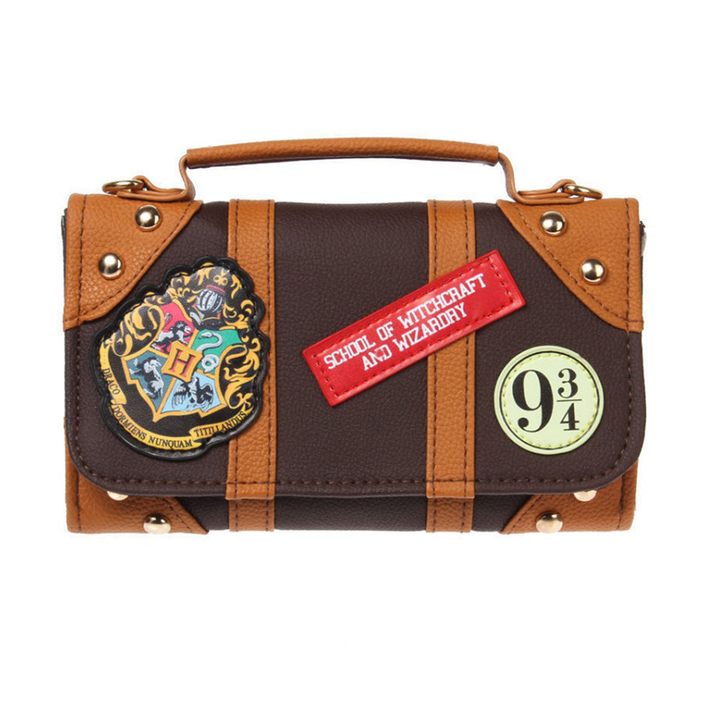 Offical Harry Potter Hogwarts PU Chain Crossbody bag Small shoulder bag shoulder bags Dual function of tote bag metallic pu chain crossbody bag