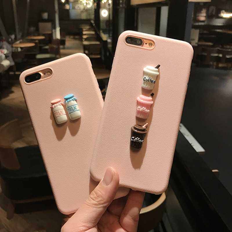 3D Summer Ice Cream back Phone Case For iphone X XS 6 6S 6plus 8 plus case silicon Soft TPU phone cover for iphone 7 7plus capa