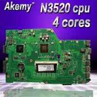 Placa base de ordenador portátil Akemy X751MD para ASUS X751MD X751M K751M placa base original N3520 cpu 4 núcleos 2.167 GHZ