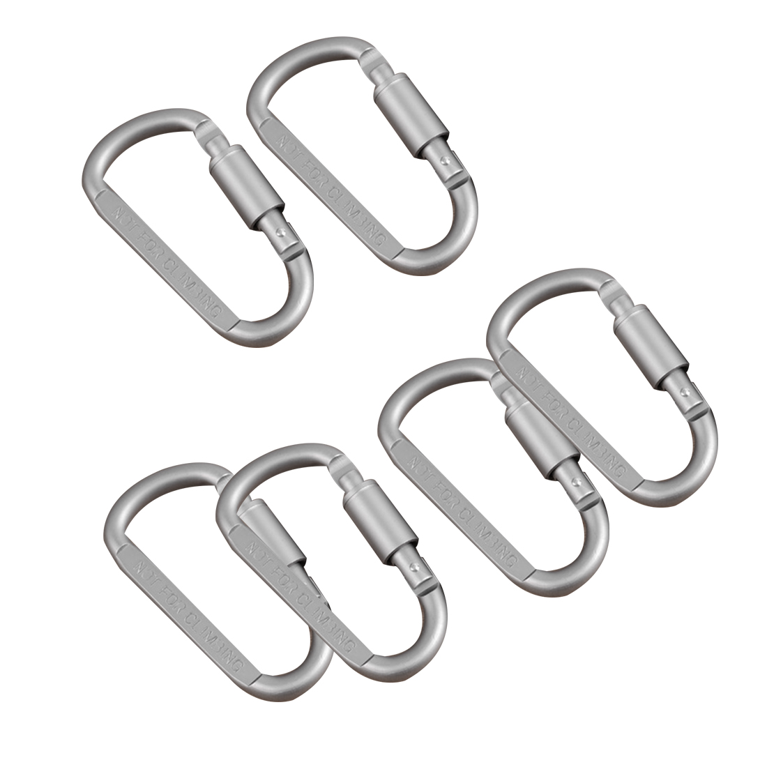 6pcs/lot Travel Kit Camping Climbing Equipment Alloy Aluminum Survival Gear Camp Mountaineering Hook EDC Carabiner