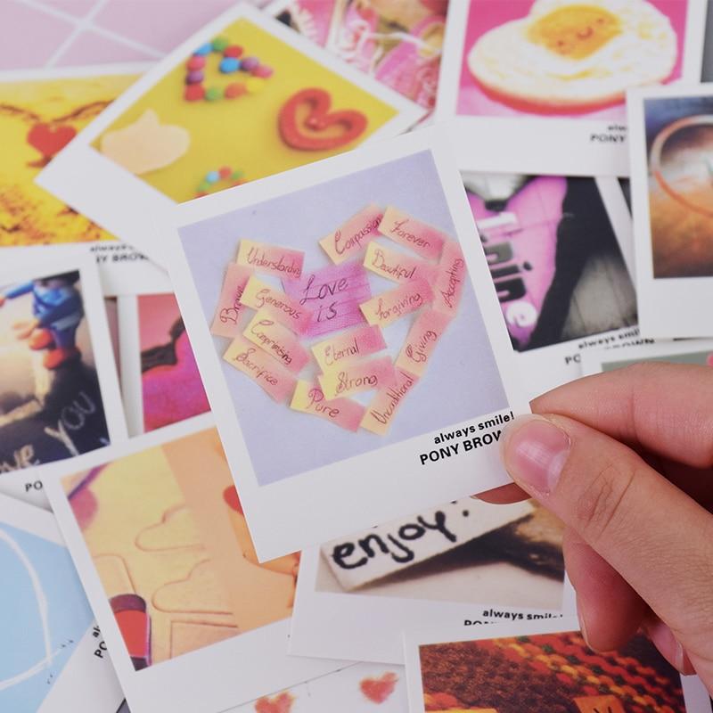 40 Pcs/lot Dear Love Heart Mini Lomo Card Greeting Card Postcard Birthday Letter Envelope Gift Card Set