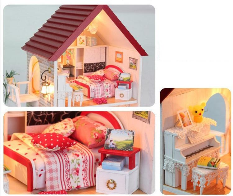 mini furniture. Mini Furniture. Free Shipping Diy Wooden Miniature Furniture Doll House With Garden Vila Building I