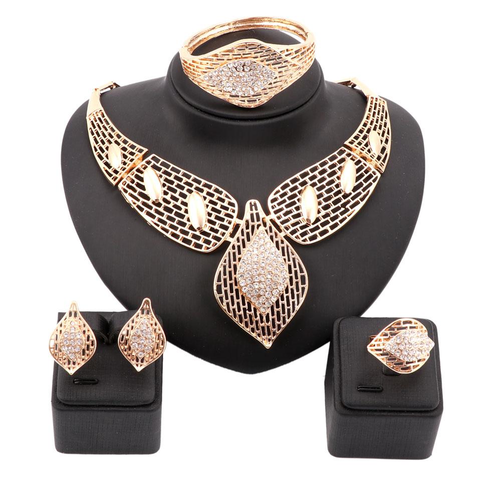 Images of jewellery kenetiks com - Women Free Shipping Nigerian Beads Wedding Jewelry Set Bridal Dubai Gold Color Jewelry Sets African Beads