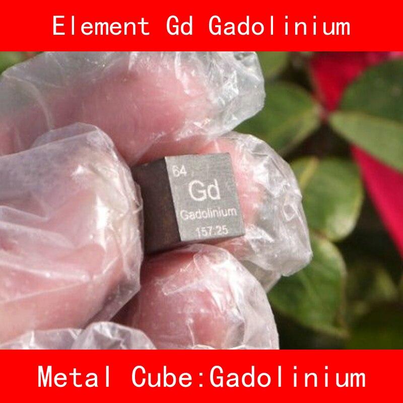 Pur 99.99% Gd Gadolinium Cube Bloc En Vrac Tableau Périodique de Rare Terre Métal Éléments pour laboratoire De Recherche industrielle Collection