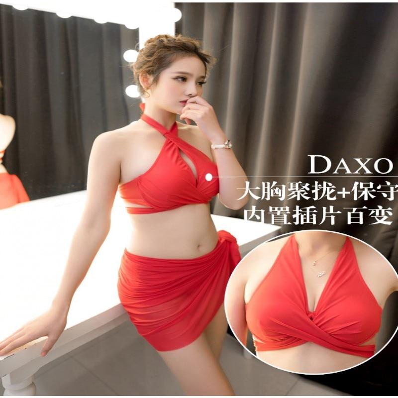 2017 New Sexy Women Bikini Set Swimwear Push-Up Padded Bra Swimsuit Bra Triangle Beachwear Cover up Bathing Suit