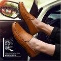 CDTS sizd 36-46 47 2017 Primavera/Outono sapatos de Motorista dos homens de Couro de Vaca casuais frete grátis