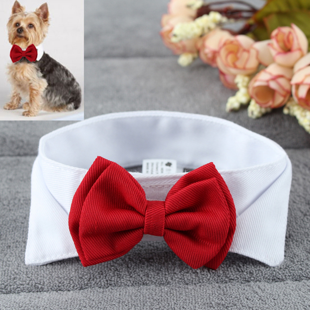 Pet Supplies Cats Dog Tie Wedding Accessories Dogs Bowtie Collar Cute Puppy Necktie Holiday Decoration Grooming In From Home Garden On