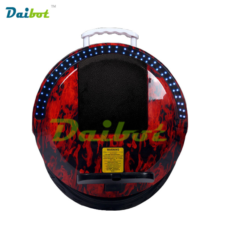 Daibot Une Roue Électrique Hoverboard Bluetooth Monocycle Monowheel Auto Équilibrage Scooter Planche À Roulettes Hoverboard avec des lumières LED