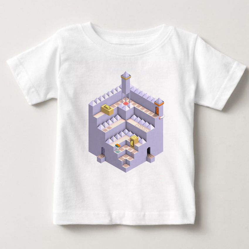 Summer short sleeved cotton tops boys and girls love puzzle games T-Shirts childrens clothing Evo-Explores kids clothes MJ