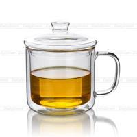 Lots 10fl Oz 300ml Heat Resistant Double Wall Glass Tea Drink Cups Mugs W Lid