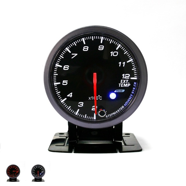 60MM  No Logo Exhaust gas temp gauge White/Amber light with peak function/EGT Gauge/EXT Meter/Auto Gauge/Car Meter