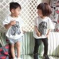 2015 бобо выбирает мультфильм печатных т-тонкий рубашки / детская одежда вершины тройники / vetement enfant 2 - 7 лет мальчики девочки reine des neiges гарсон