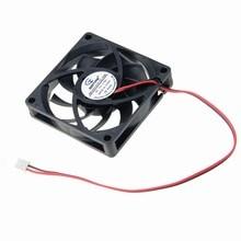 2Pcs Gdstime 2Pin 7015 12V DC Burshless Cooler Cooling Fan 70mm 70x70x15MM