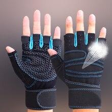 TNINE перчатки для тренажерного зала с запястьем для тренировки в спортзале Кроссфит тяжелая атлетика для мужчин и женщин фитнес спортивные перчатки для тренажерного зала половина пальцев перчатки