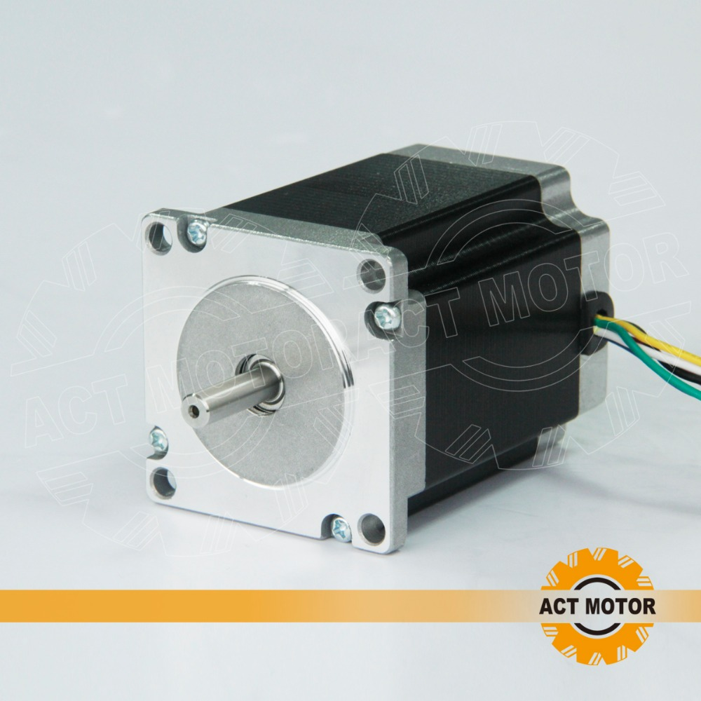 Free ship from Germany!ACT Motor 1PC Nema23 Stepper Motor 23HS8430 4-Lead 270oz-in 76mm 3.0A Bipolar CE ISO ROHS CNC Router act motor 1pc nema23 stepper motor 23hs8430 4 lead 270oz in 76mm 3 0a bipolar ce iso rohs us ca uk de it fr sp be jp free