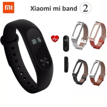 New Original Xiaomi Mi Band 2 Wristband Bracelet OLED Display Touchpad Smart Heart Rate Monitor Bluetooth Fitness Tracker