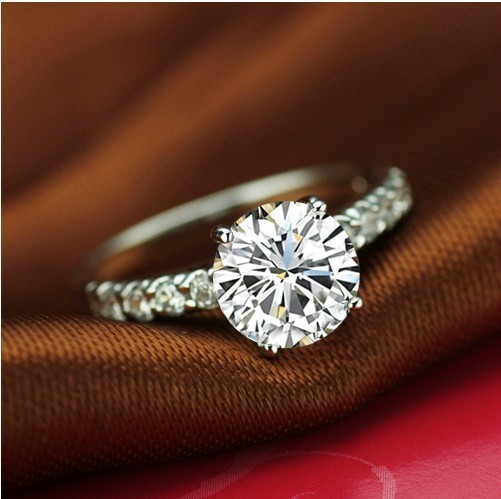 1ct Rings For Women High Quality 925 Sterling Silver Bridal Engagement Diamond