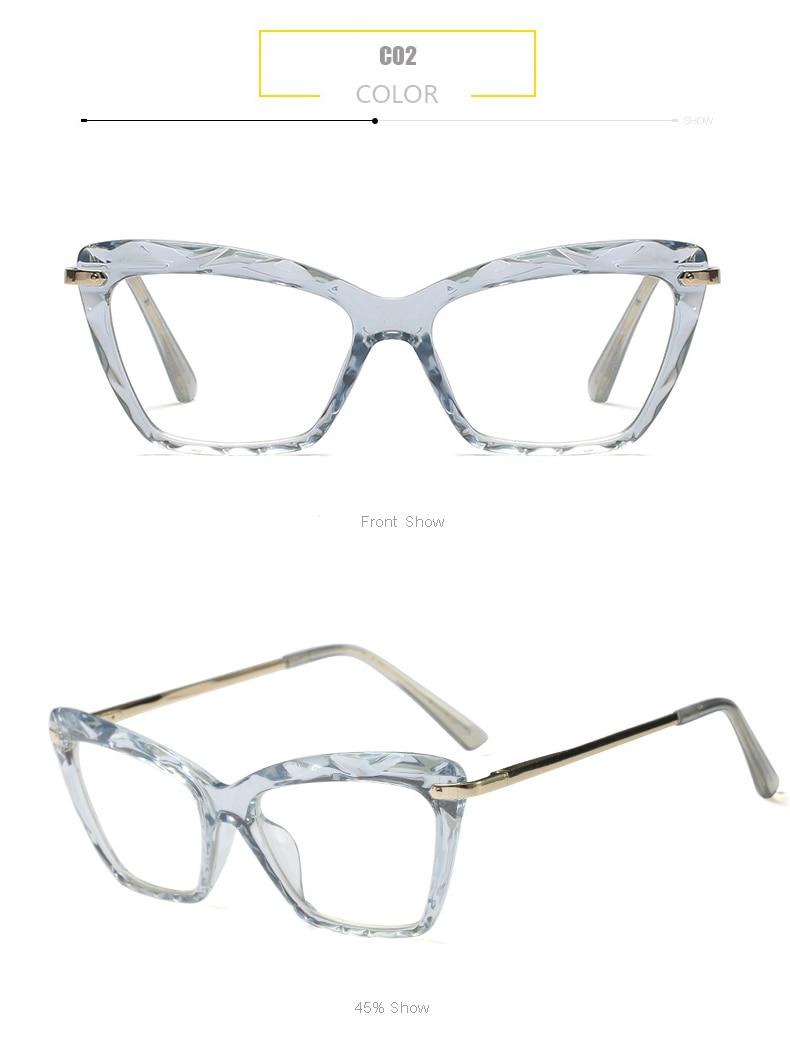 85a30eccff 2019 BUKE Fashion Square Glasses Frame Women Trending Styles Brand ...