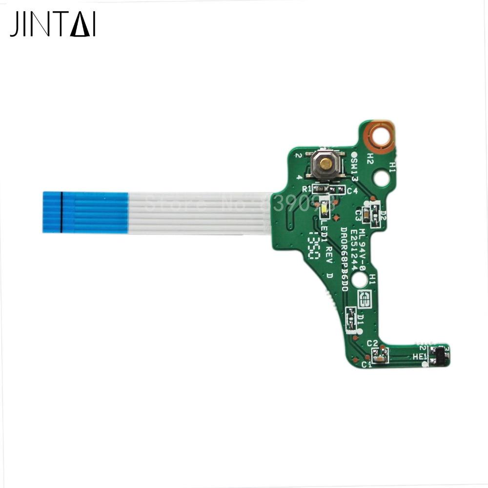 JINTAI Bouton D'alimentation Interrupteur Conseil avec Ruban Pour HP Pavilion 17.3 17-e Série DA0R68PB6D0 720673-001