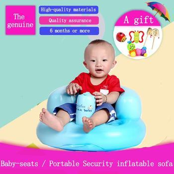 Silla inflable de bebé para alimentar bebé, silla alta portátil, asiento de...