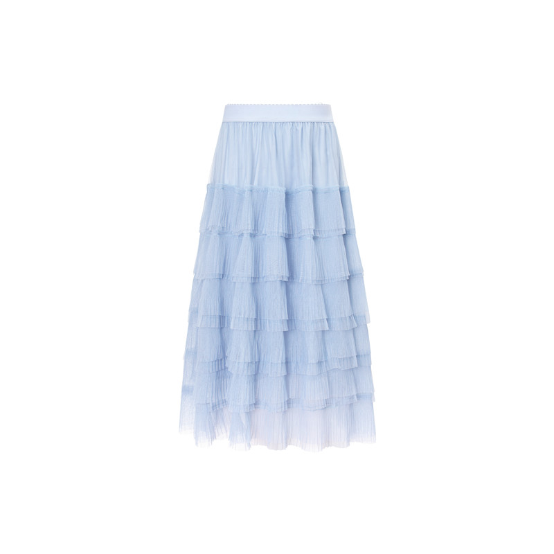 2019  Vintage Skirts Womens Elastic High Waist Tulle Pleated  Women