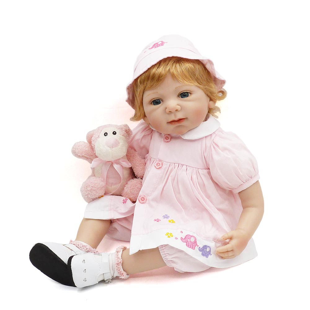 KAYDORA 20inch Handmade Reborn Silicone vinyl lol adorable Lifelike toddler Baby Boneca girl kid toy bebe doll Birthday GiftsKAYDORA 20inch Handmade Reborn Silicone vinyl lol adorable Lifelike toddler Baby Boneca girl kid toy bebe doll Birthday Gifts