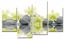 Modern Flower paintings 4 piece large canvas print wall art modular painting on decoration oil paint decorative pictures XJ-89
