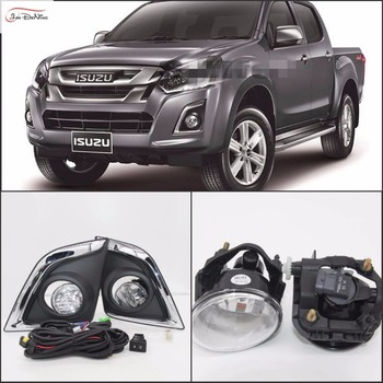 JanDeNing Car Fog Lights for ISUZU D-MAX CCV-SROSS HI-LANDER 4DR/2DR 2016 Clear Halogen bulb Front Fog Lights Bumper Lamps Kit