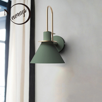 Nordic clarion wall lamp modern industrial wall light LED E27 with 3 colors for bedroom living room restaurant kitchen aisle bar