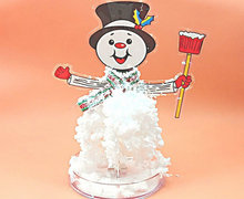 2019 18x10cm DIY White Magic Growing Paper Crystal Snowman Tree Kit Artificial Magical Grow Trees Science Kids Christmas Toys 2019 12x8cm hot white magic growing paper snowflake tree magical grow snowflakes flutter crystals snowman trees flakes kids toys