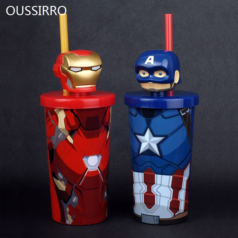 Super Hero Avengers Justice League Captian America IronMan Theme PP+ABS Milk Coffee Mugs Pure Color Kitchen Tool Gift