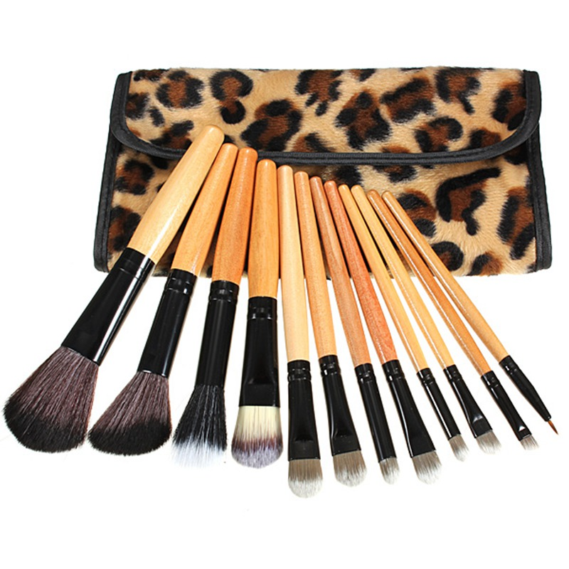 Pro 12 pcs Makeup Brushes Set Foundation Eyeshadow Lip Brush Beauty Tools With L
