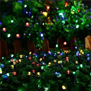 Image 5 - Светодиодный светильник на солнечной батарее, водонепроницаемый уличный светодиодный светильник на солнечной батарее, сказочный светильник s, 7, 12, 22, 32 м, праздничное Рождественское украшение для сада