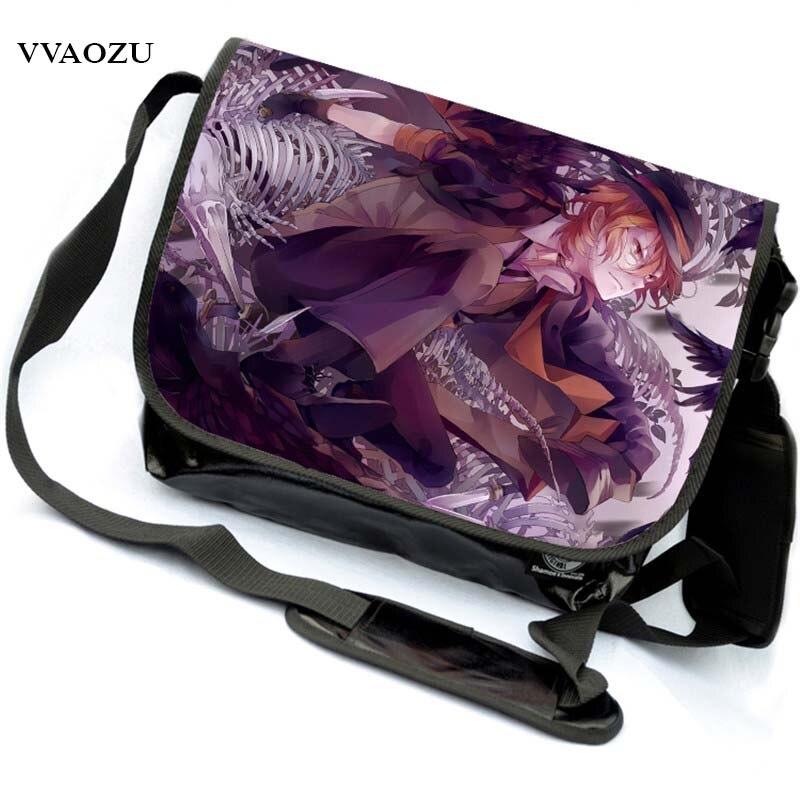 High Quality Anime Bungou Stray Dogs Men Travel Bags Canvas Fashion Women Shoulder Messenger Sling Bags Bolsa Feminina