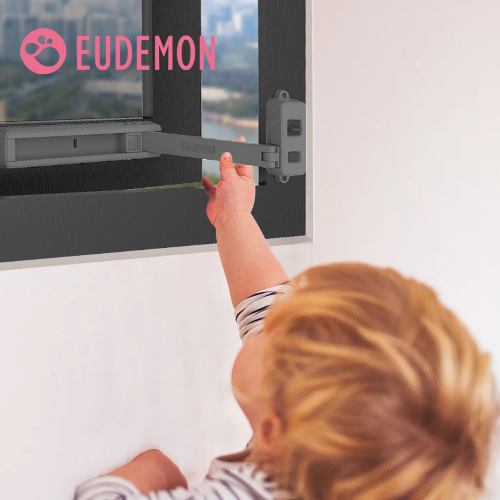 EUDEMON Window Lock Children Protection Window Restrictor ABS Child Safety Window Stopper Falling Prevention Locks Limiter