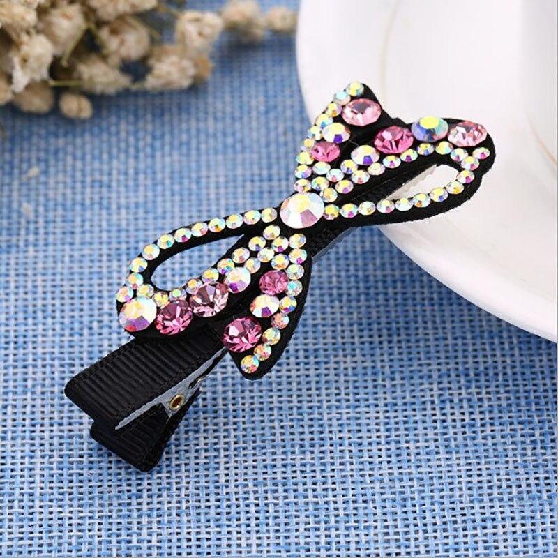 Korea Retro Flowers Butterfly Crystal Side Bangs Clip Hair Accessories Rim Hair Clips Fo ...