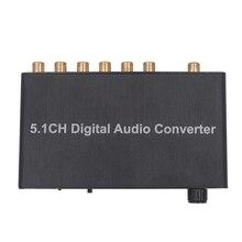 Kebidumei 5.1-KANAL Digital Audio Konverter Decoder AY77 SPDIF coaxial RCA DTS AC3 digitaler Verstärker Analog für PS3, DVD player