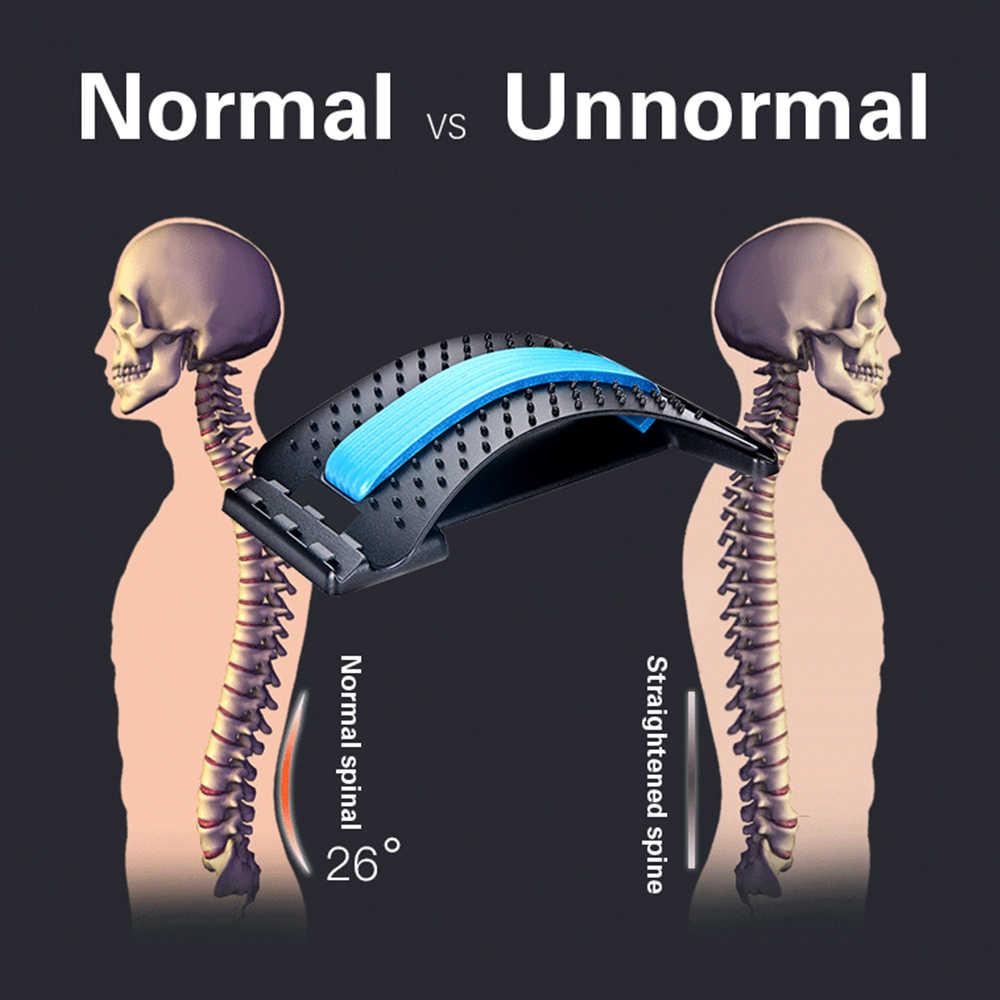 OLIECO Back Stretcher Fitness Lumbar Posture Correction MassagerกระดูกสันหลังปวดบรรเทาMagicกลับผ่อนคลายรั้งสนับสนุน