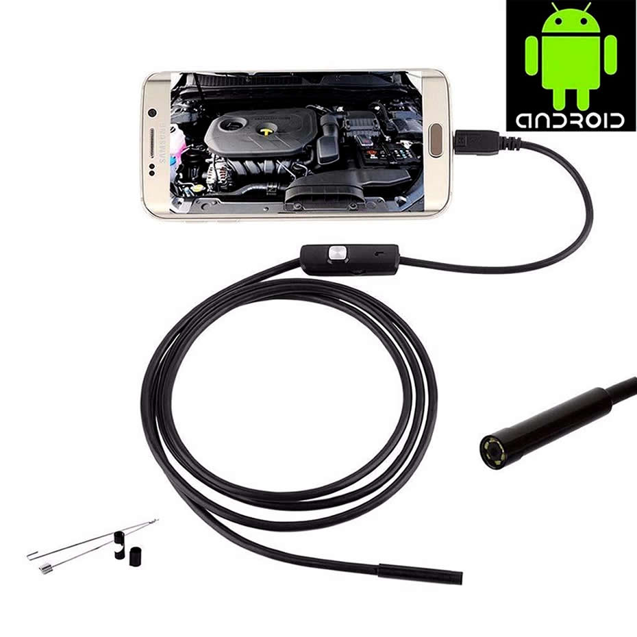 Wsdcam Waterproof Endoscope Camera with USB Interface and 6 LED Light for Android/iOS Phone 7