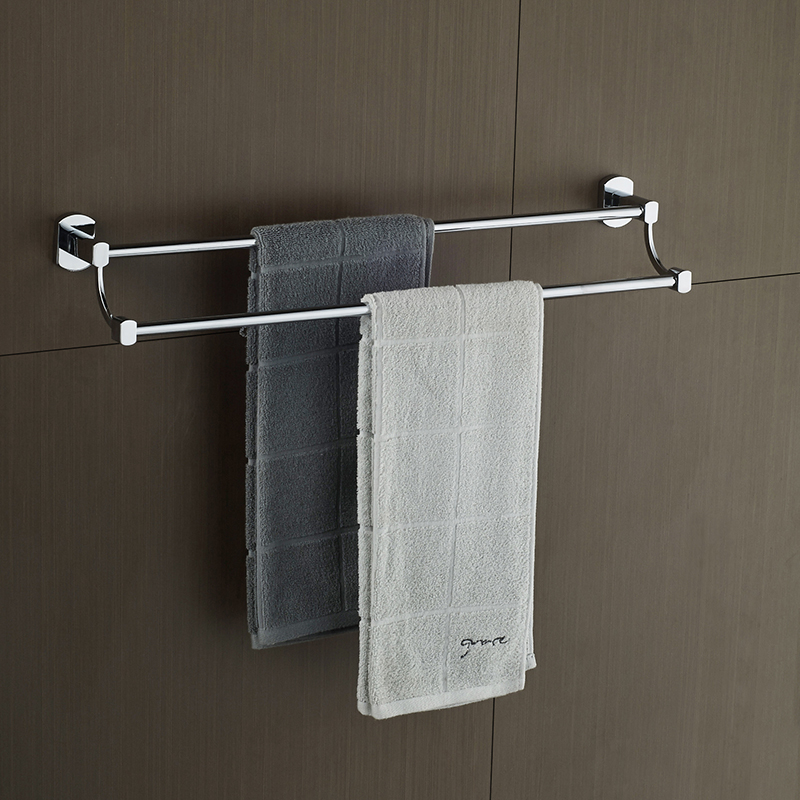 AUSWIND modern 304 stainless steel silver polish Towel rack double pole bathroom hanging towel bar wall mount bathroom hardware high quality primus sunskin rotary machine gun kit taiwan motor black precise rotary tattoo machine loom tool free shipping