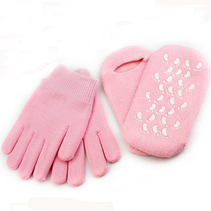 1 пара многоразовые спа силиконовые гелевые носки перчатки увлажняющие отбеливающие отшелушивающие маски для ног Нестареющая гладкая маск...